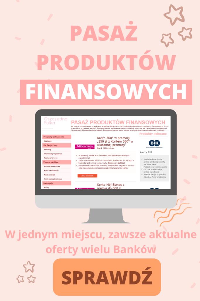 pasaż finansowych produktów